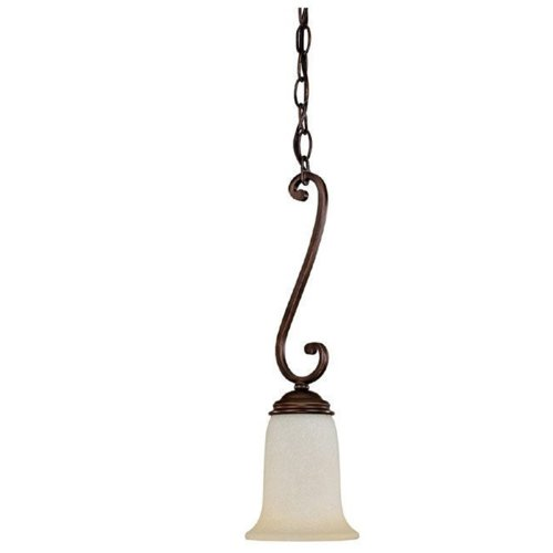 - Capital Lighting 3028BB-251 Cumberland Collection 1-Light Mini-Pendant, Burnished Bronze Finish with Mist Scavo Glass
