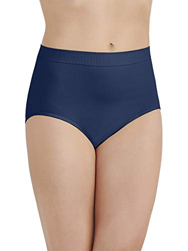 (Vanity Fair Women's Smoothing Comfort Seamless Brief Panty 13264, Times Square Navy,)
