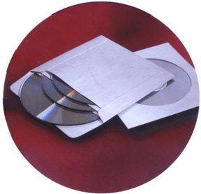 Tyvek 3-Pocket CD/DVD Sleeves with Glassine Window 100-Pak (Sign Tyvek)
