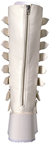 318 Boot leather Knee white High vegan Damned Demonia Women's gAqFwZg1