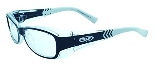 Global Vision Eyewear RX Series Sunglasses with Two-Tone Crystal Frame and Clear Safety - Safety Rx Sunglasses
