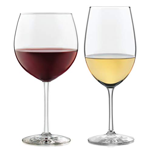 - Libbey Vineyard Reserve 12-Piece Wine Glass Party Set for Chardonnay and Merlot/Bordeaux