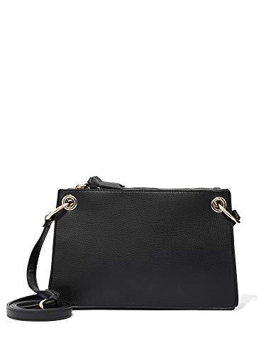 New York & Co. Women's Grommet Crossbody Bag 0 Black ()