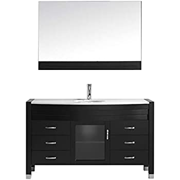 Virtu USA Ava 55 inch Single Sink Bathroom Vanity Set in