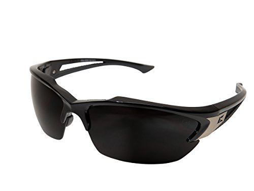 - Edge Eyewear TSDK216 Khor Safety Glasses, Black with Polarized Smoke Lens