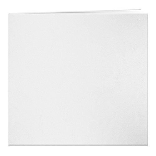 Pioneer Photo Albums MB-10 Post Bound Leatherette Cover Memory Book, 12 by 12-Inch, Bright White
