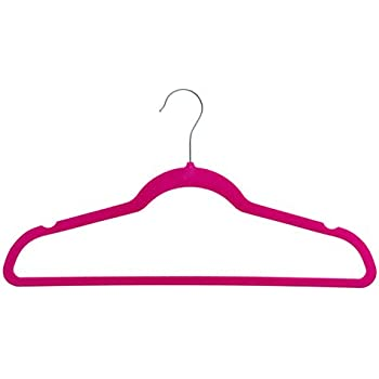 Home-it 50 Pack Clothes Hangers Hot Pink Velvet Hangers Clothes Hanger Ultra Thin No Slip