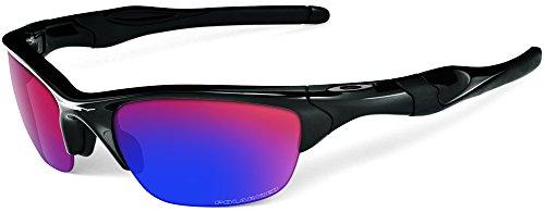 Oakley mens Half Jacket 2.0 Xl OO9154-27 Iridium Polarized Sport Sunglasses,Polished Black/OO Red Iridium Polarized,55 mm