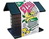 C and S Products Easy Fill Deluxe Snak/Suet Feeder with Roof and Platform, My Pet Supplies