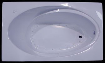 Splash Baths Air Jet Bathtub 6 Foot Acrylic Wide Rectangle Bathtub 72u0026quot;  ...
