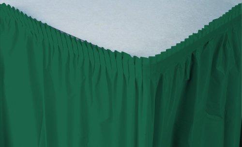 Creative Converting Plastic Table Skirt, 21.5-Feet, Hunter Green