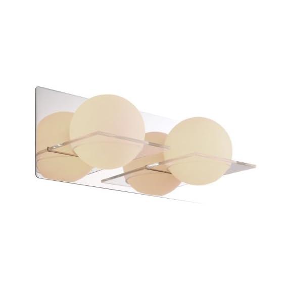 "DVI DVP0922CH-OP 2 Light Bathroom Light - Width: 14.25""  Projection from wall: 5""  Height: 5.25"" 120-volt power supply required Uses two 50 watt T4 G9 120 volt halogen light bulbs - bathroom-lights, bathroom-fixtures-hardware, bathroom - 31HszAuTM2L. SS570  -"