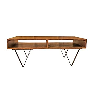 Design Couchtisch Russel Holz Und Metall Industrial Vintage Retro