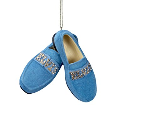 Kurt Adler Elvis Presley Blue Suede Shoes Christmas Ornaments
