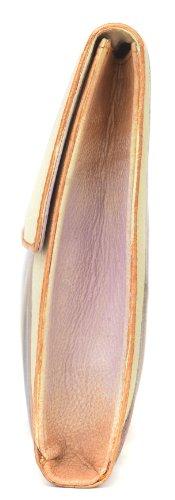 Zimbelmann Scarlet - Borsetta da polso, borsa clutch in vera pelle nappa, dipinta a mano, donna