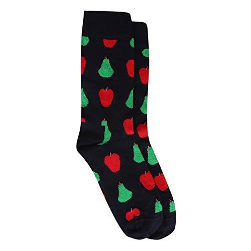 Meia Happy Socks Cano Alto Fruit Feminina - Marinho+Vermelho - 34-38