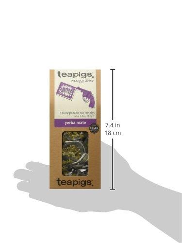 teapigs Yerba Mate Tea, 15 Count (Pack of 6)