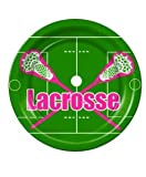 9'' Lacrosse DINNER Plates (18 CT.) Pink FREE Standard SHIPPING!