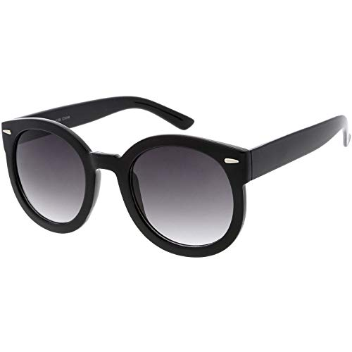 46106f715902 zeroUV - Round Retro Oversized Sunglasses for Women with Colored Mirror and Neutral  Lens 53mm (