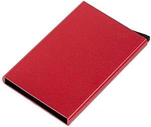 المنيوم احمر وردي  للجنسين - محفظة بطاقات الائتمان