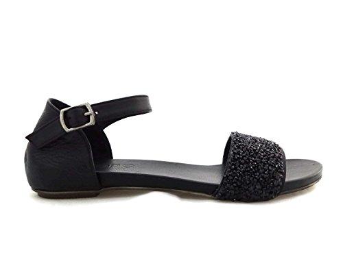 Bueno Sandales Sandales pour Femme pour Noir Sandales Femme Noir pour Bueno Bueno Femme aRzRqr