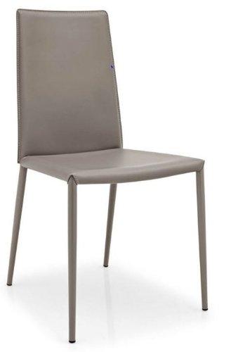 Amazon.com: Boheme Taupe silla de piel – Calligaris – gris ...