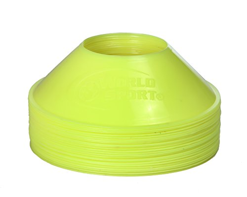 World Sport MINI Disc Cones Neon Yellow (25 Pack)…