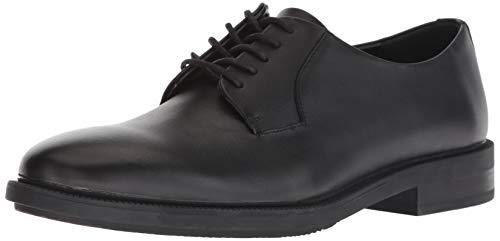 Calvin Klein Men's Carl Smooth Calf Leather Oxford, Black, 11.5M M US Black Calf Leather Oxford