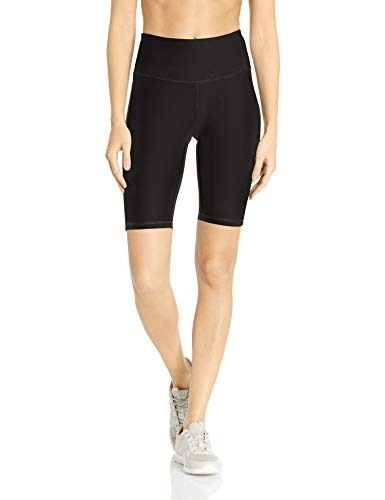 Amazon Essentials Women's Performance Full Coverage Active Short, Black, Small