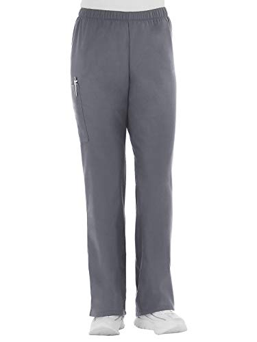 Fundamentals 14720 Women's Cargo Pocket Scrub Pant Pewter XS Tall