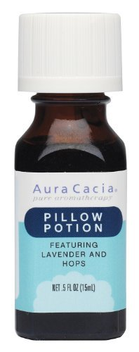 Aura Cacia Essential Solutions Oil Blend, Pillow Potion, 0.5 fluid ounce by Aura Cacia ()