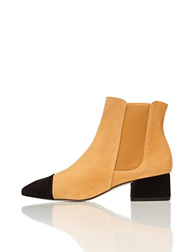 FIND Women's Amelie Chelsea Boots Beige (Camel) gdHYTX