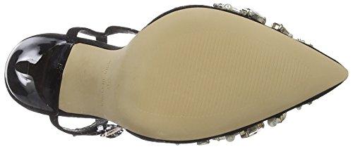 Black alla 10000 Donna Nero con Caviglia Office Horizon Scarpe Cinturino w1qx7A8