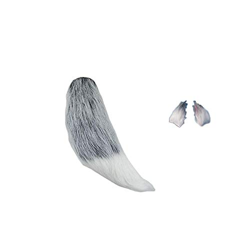(Fluffy Faux Fur Fox Tail Ears Hair Clips for Kids Cosplay Costume Halloween Dress Up Kits 14