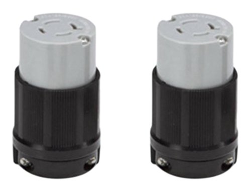 OCSParts L14-20R Grounding Locking Connector, 20A 125/250V AC, 3 Pole 4 Wire, cUL Listed, NEMA L14-20 (Pack of 2) ()