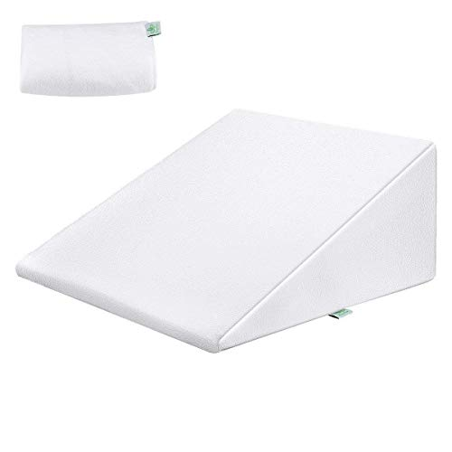 CozyZone Bed Wedge Pillow, Memory Foam Acid Reflux Support Pillow (25