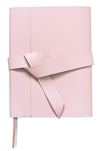 ClearAsDay Journal Cute Bullet Notebook   Faux Leather   Pink   Dotted   Lined   Notebook For Women   5.5x7inch   Inner Pocket   Soft Cover   Inspiration Notebook for -