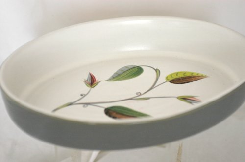 DENBY Spring Pattern Oval Serving Bowl 11 1/2