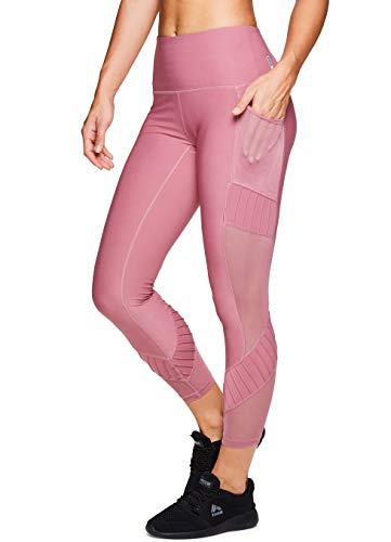 RBX Active Women's Workout Yoga Leggings Pink S19 Multi M