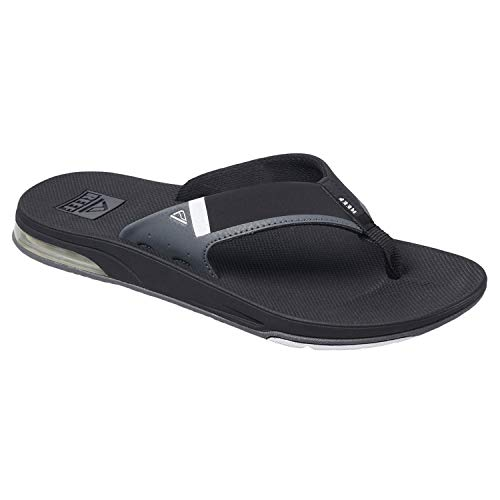 - Reef Men's Fanning Low Thong Sandals (10 M US, Black/White)