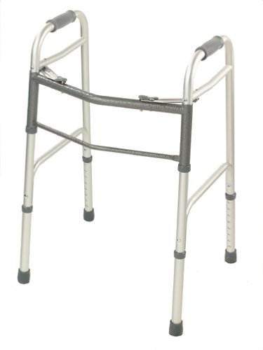 Medline Two-Button Folding Walkers Without Wheels, Junior by Medline