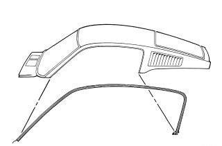 Mustang Roof Rail Weatherstrip Fastback Pair 1967 - 1968