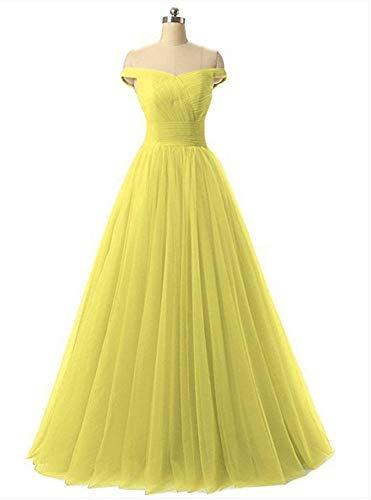 Yuezhang Sera Nuziale abito Da Abito Cerimonia Yellow Donna ZPnrZqO5wx