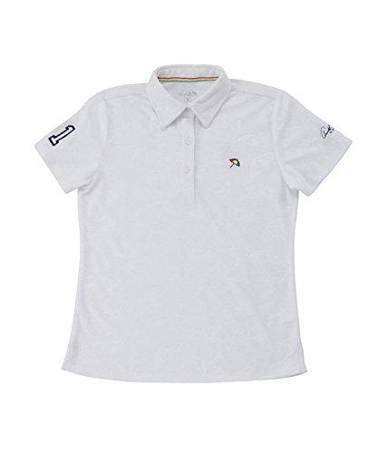 アーノルドパーマー レディース ゴルフ ポロシャツ 半袖 傘エンボス半袖シャツ AP220301H03 WH L
