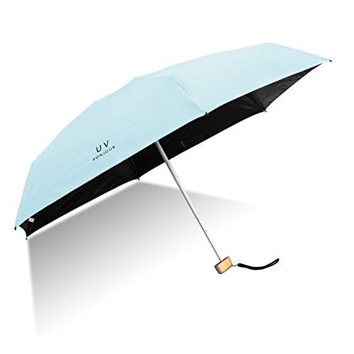 (Travel Umbrella Lightweight Small Umbrella Folding Windproof Ultra Light UV Protection Umbrella(Blue))