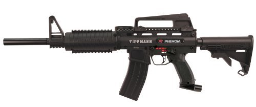 Tippmann X7 Phenom M16 Edition Paintball Gun, Black
