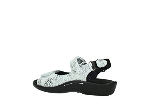 Sandals schwarz 70110 Nubukleder Weiss Wolky Womens Salvia Leather 1300 qTvBwI