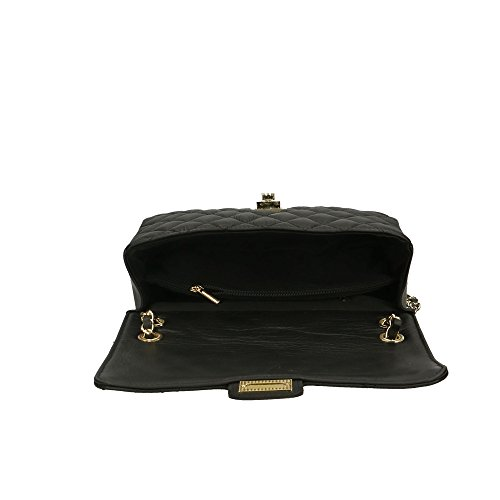 27x16x8 véritable cuir à bandoulière en Cm in Sac Italy Made femme Noir Aren nBOfqxw1g