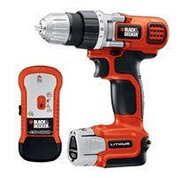Black & Decker 12 Volt Lithium Drill/Driver with Stud Sensor Holds Charge for 18 Months (12v Black And Decker Drill)
