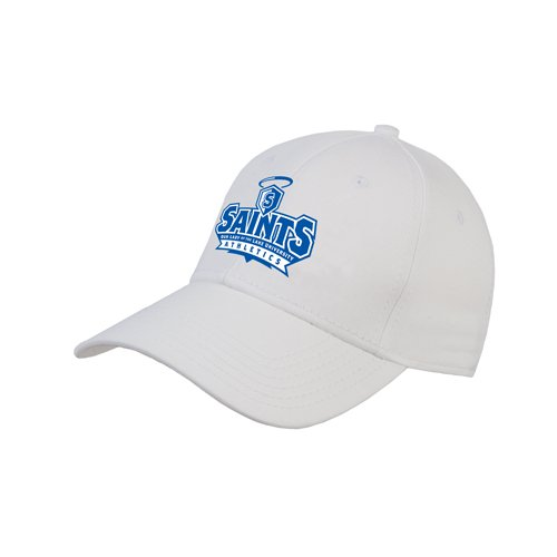 OLLU White Heavyweight Twill Pro Style Hat 'Our Lady of the Lake University Athletics - Offical Logo' by CollegeFanGear
